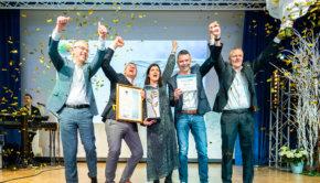 Gediflora celebrates winning International Grower of the Year 2019. Photo: AIPH.